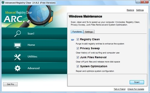Advanced Registry Clear 2.1.9.2 Portable